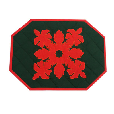 Placemat Red on Green Hibs