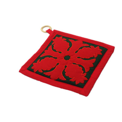 Potholder Pine Red on Green